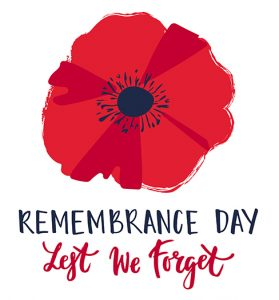 Remembrance Day Service – Nov 9 @ 10:20am